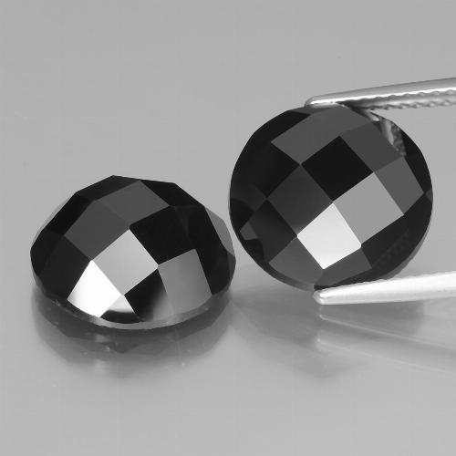 Black Spinel Gem - 6.7ct Round Rose-Cut (ID: 438496)