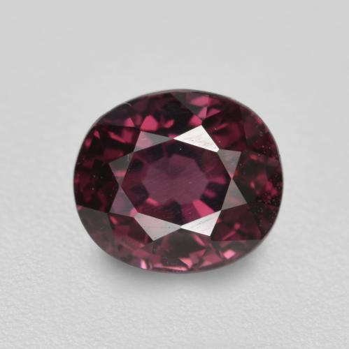 1.9ct Oval facettiert tieflila Spinell Edelstein (ID: 469852)