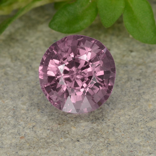 Medium Purple Spinel Gem - 0.6ct Round Facet (ID: 483218)