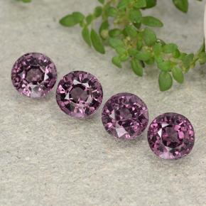 Purple Spinel Gem - 0.7ct Round Facet (ID: 483439)