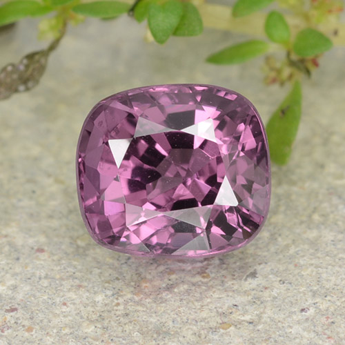Medium Purple Spinel Gem - 1.3ct Cushion-Cut (ID: 483592)