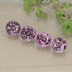 0.60 ct Round Facet Grey-Purple Spinel Gemstone 4.92 mm  (Product ID: 484985)
