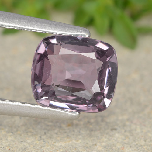 Light Grayish Purple Spinel Gem - 1.3ct Cushion-Cut (ID: 490282)