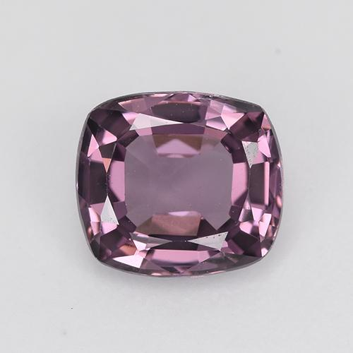 1.25 ct Cushion-Cut Pinkish Violet Spinel Gemstone 6.88 mm x 6.2 mm (Product ID: 495760)