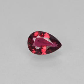 Currant Red Spinel Gem - 0.3ct Pear Facet (ID: 503425)
