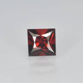 0.43 ct Prinzess-Schliff dunkelrot Spinell Edelstein 4.41 mm x 4.3 mm (Photo A)