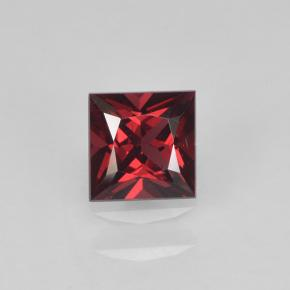 Deep Blood Red Espinela Gema - 0.4ct Corte Princesa (ID: 503509)