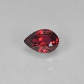 Deep Red Spinel Gem - 0.2ct Pear Facet (ID: 503510)