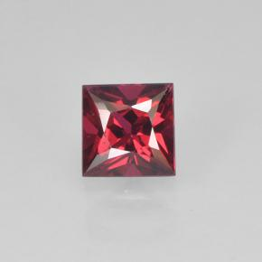 Rouge Spinelle gemme - 0.3ct Coupe-princess (ID: 503511)