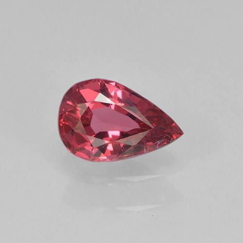 Pinkish Red Spinel Gem - 0.4ct Pear Facet (ID: 503512)