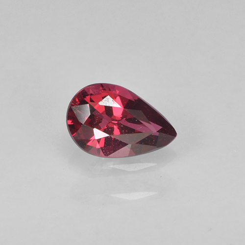 Currant Red Spinel Gem - 0.4ct Pear Facet (ID: 503519)
