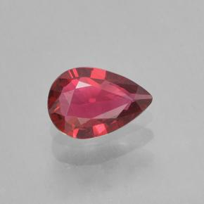 Medium Red Spinel Gem - 0.3ct Pear Facet (ID: 503568)