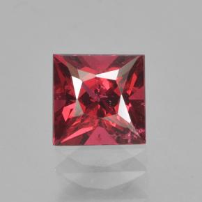 0.67 ct Princess-Cut Deep Crimson Red Spinel Gemstone 4.97 mm x 4.9 mm (Product ID: 503576)