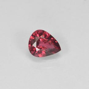 Deep Crimson Red Spinel Gem - 0.4ct Pear Facet (ID: 503577)