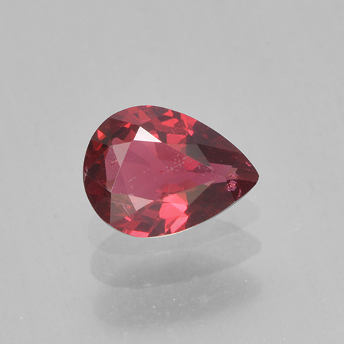 Currant Red Spinel Gem - 0.4ct Pear Facet (ID: 503578)