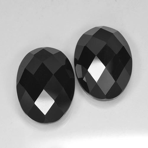 Black Spinel Gem - 6.6ct Oval Checkerboard (ID: 503734)