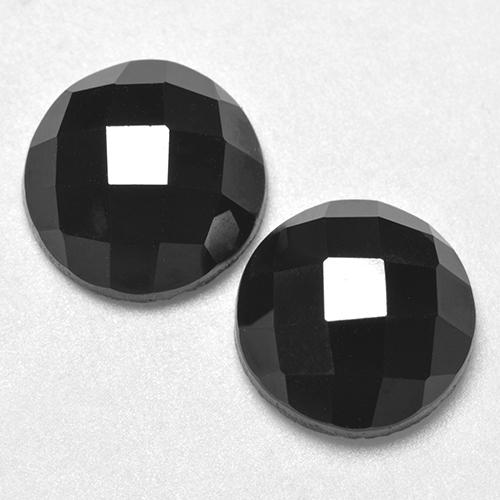 Black Spinel Gem - 3.7ct Round Rose-Cut (ID: 529420)