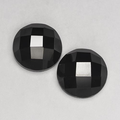 3.26 ct Round Rose-Cut Black Spinel Gemstone 9.13 mm  (Product ID: 529582)