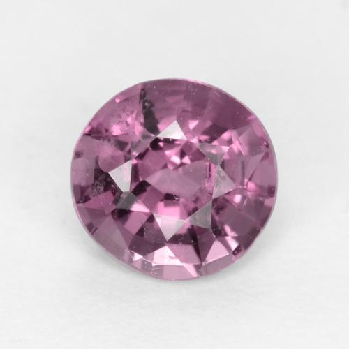 Deep Lavender Spinel Gem - 0.6ct Round Facet (ID: 540187)