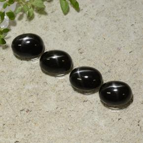 Black Star Diopside Gem - 1.7ct Oval Cabochon (ID: 499275)
