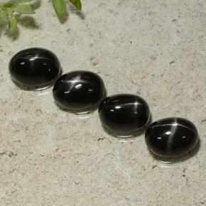 Black Star Diopside Gem - 1.9ct Oval Cabochon (ID: 499278)