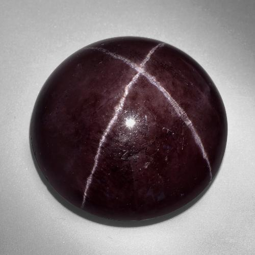 thumb image of 60.6ct Round Cabochon Black Red Star Garnet (ID: 403887)