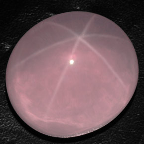 Pink Star Rose Quartz Gem - 163.2ct Oval Cabochon (ID: 305379)