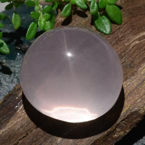 Pink Star Rose Quartz Gem - 32.1ct Oval Cabochon (ID: 483522)