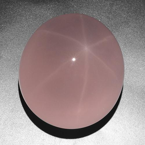 Pink Star Rose Quartz Gem - 263.1ct Oval Cabochon (ID: 505880)