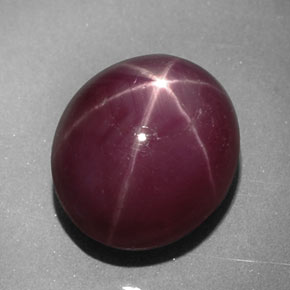 Buy 5.33ct Purplish Red Star Ruby 10.22mm x 8.38mm from GemSelect (Product ID: 315175)