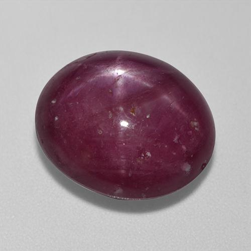 Pinkish Red Star Ruby Gem - 13.7ct Oval Cabochon (ID: 520873)
