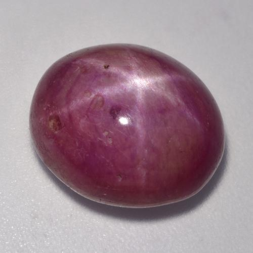 Pinkish Red Star Ruby Gem - 14.4ct Oval Cabochon (ID: 521286)