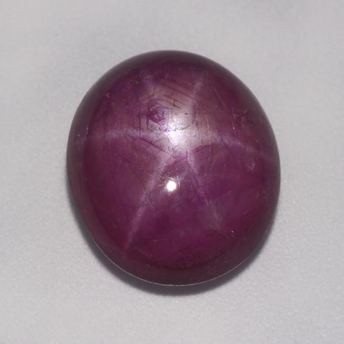 Medium-Dark Purple Sternrubin Edelstein - 9.7ct Oval Cabochon (ID: 521336)