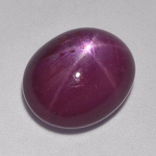 Pinkish Red Star Ruby Gem - 10.8ct Oval Cabochon (ID: 521338)