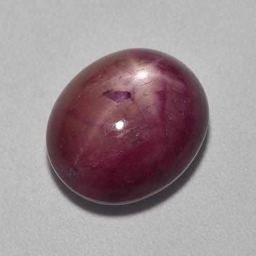 Pinkish Red Star Ruby Gem - 8.1ct Oval Cabochon (ID: 521345)