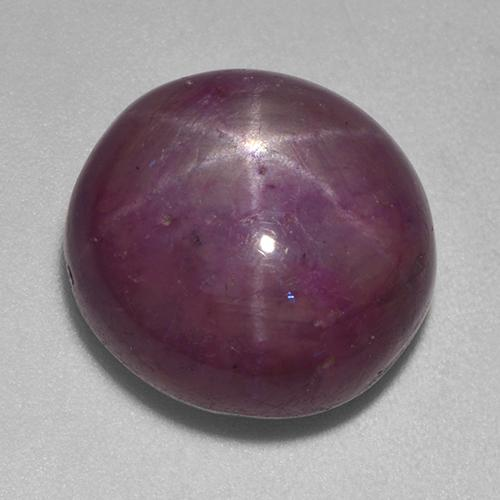 Plum Purple Star Ruby Gem - 15.1ct Oval Cabochon (ID: 523126)