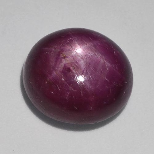 Pinkish Red Star Ruby Gem - 10.7ct Oval Cabochon (ID: 523614)