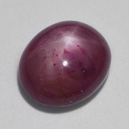 Medium-Dark Purple Star Ruby Gem - 10.2ct Oval Cabochon (ID: 523616)
