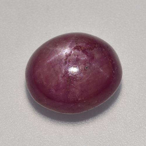 Purple-Red Star Ruby Gem - 7.1ct Oval Cabochon (ID: 524798)