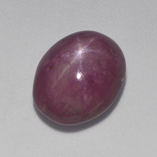 Reddish Purple Star Ruby Gem - 6.1ct Oval Cabochon (ID: 525310)
