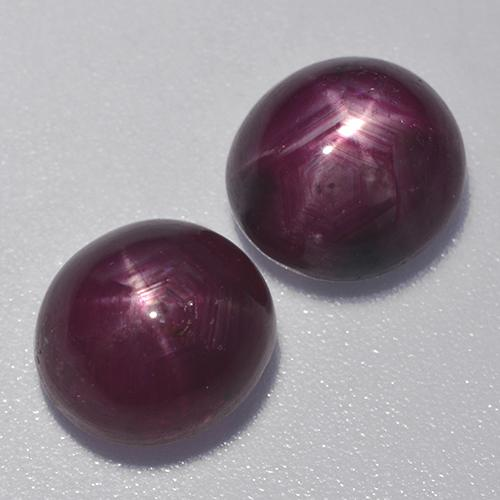 Plum Purple Star Ruby Gem - 4ct Oval Cabochon (ID: 526574)