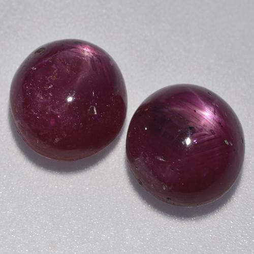 Medium Purple Star Ruby Gem - 3.9ct Oval Cabochon (ID: 526585)