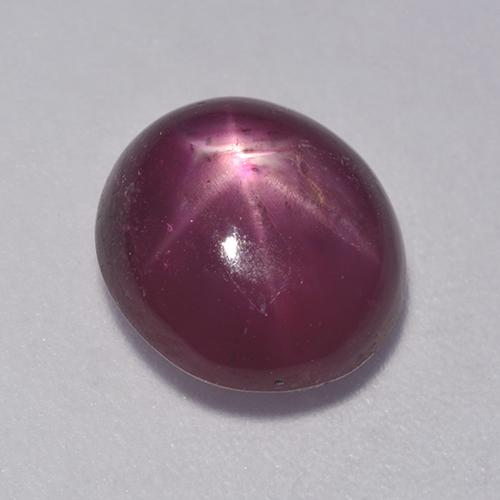 Medium-Dark Purple Rubí Estrella Gema - 5.1ct Cabujón Óvalo (ID: 528179)