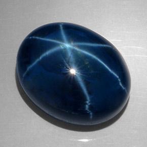 62 3 Carat Deep Blue Star Sapphire Gem From Thailand
