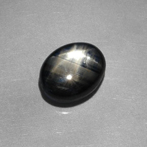 Buy 1.98 ct Black Star Sapphire 7.87 mm x 6.1 mm from GemSelect (Product ID: 312047)