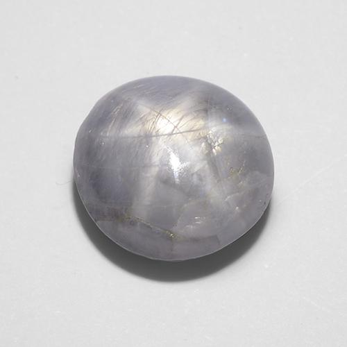 7.88 ct Cabujón Óvalo Light Grey Zafiro Estrella Gema 10.62 mm x 10.2 mm (Foto A)