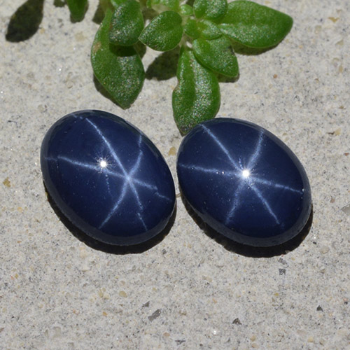 Navy Blue Star Sapphire Gem - 1ct Oval Cabochon (ID: 483281)