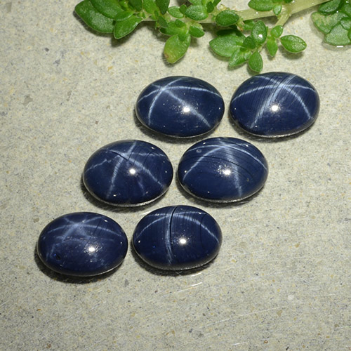1.2ct Oval Cabochon Deep Navy Blue Star Sapphire Gem (ID: 490152)