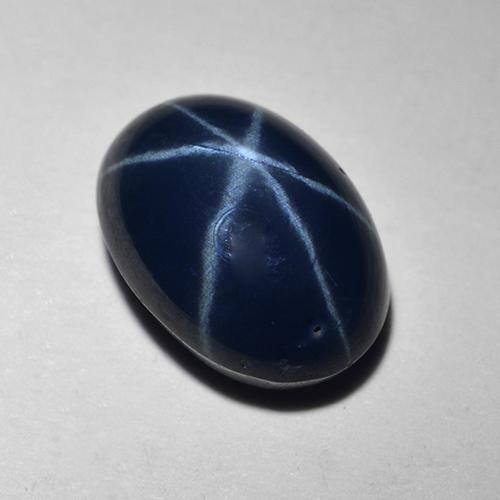 Deep Navy Blue Star Sapphire Gem - 1.6ct Oval Cabochon (ID: 517295)