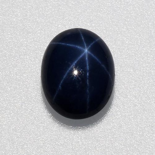 1.1ct Oval Cabochon Deep Navy Blue Star Sapphire Gem (ID: 519605)